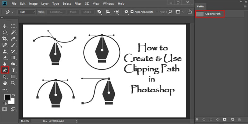 How to Use the Photoshop Pen Tool to Clipping Path Perfectly